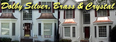 Before And After Example Of Copper Polishing Cleaning Service For Awnings